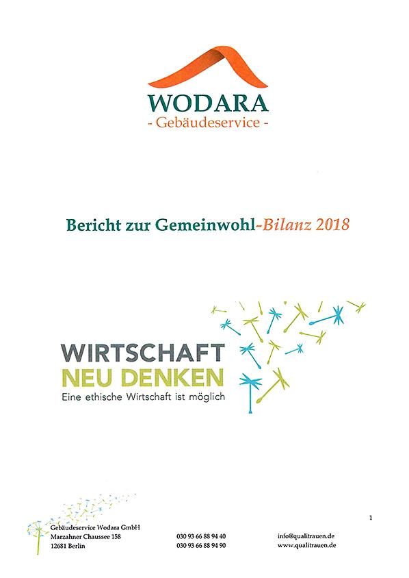 Gemeinwohl-Bilanz 2018 - Gebaeudeservice Wodara